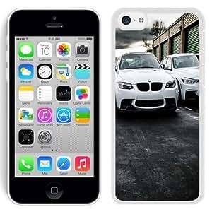 Beautiful Unique Designed iPhone 5C Phone Case With White BMW Sport Cars_White Phone Case