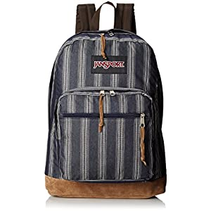 "JanSport Right Pack Expressions Backpack - Neutral Multi Denim Stripe / 18""H x 13""W x 8.5""D"