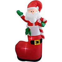 AstiVita Inflatable Christmas Santa Claus | in Shoe Stocking 1.8m | Decoration Indoor and Outdoor