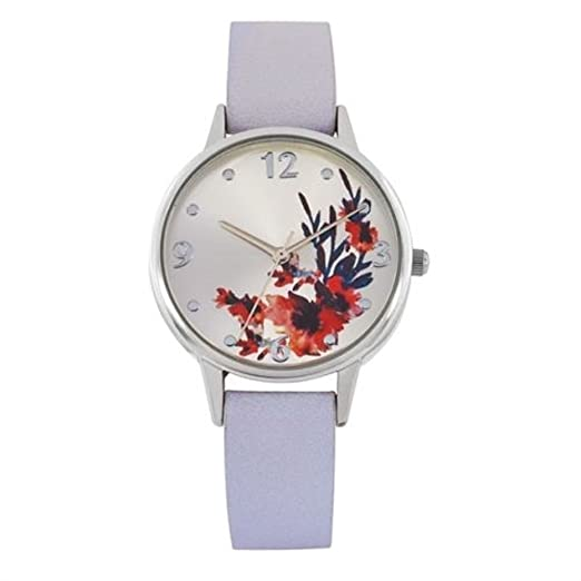 Avon Laura Reloj con tarjeta de flores caja de regalo: Amazon.es: Relojes