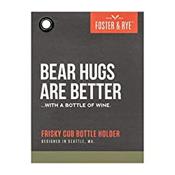 Frisky Cub Wine Bottle Holder by Foster and Rye
