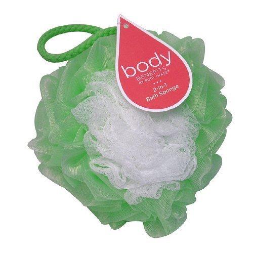 Body Benefits 2-in-1 Net Bath Sponge 1 ea(pack of 2) Body Benefits Body Sponge 1 Ea