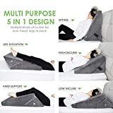 Cushy Form Bed Wedge Pillow - Adjustable Memory