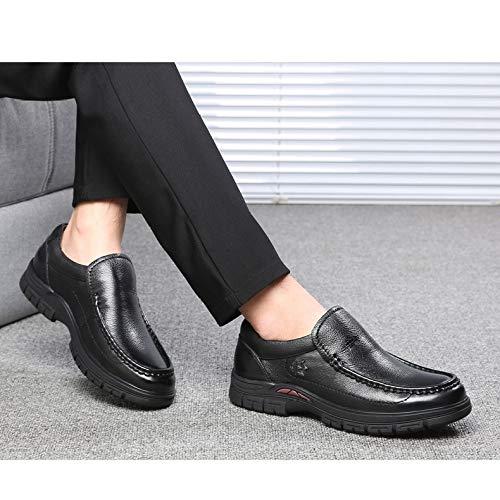 Zapatos Hombres Cuero Casuales Black Otoño Los De Nuevos Yxlong Hombres Invierno E dvfUdn