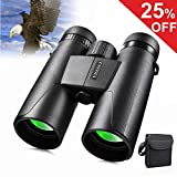 VISSSVI 10x42 Roof Prism Binoculars for Adults, HD Waterproof Fogproof Binoculars Telescope for Bird Watching Travel Stargazing Hunting Concerts with Clear Weak Light Vision BAK4 Prism FMC Lens