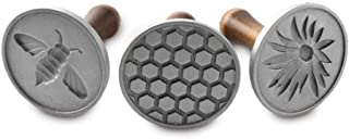 product image for Nordic Ware Cast Cookie Stamps Honeybee, 3 count, Silver