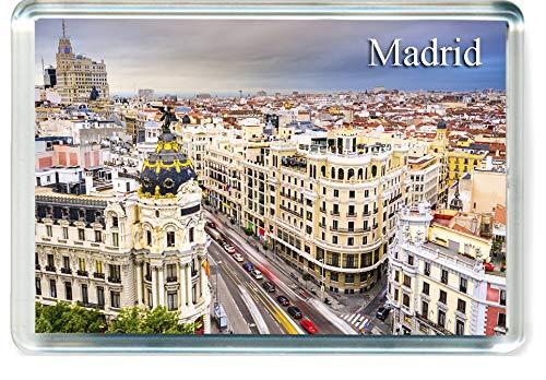 Amazon.com: Imán para nevera H243 Madrid, diseño de España ...