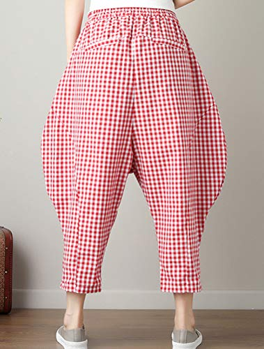 Matchlife Pantaloni Style Donna red 1 CaqBCw7r