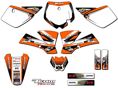 - Team Racing Graphics kit compatible with KTM 2002-2008 SX 50, ANALOGComplete kit