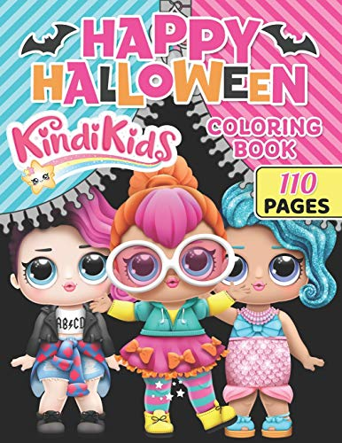 kindi kids Happy Halloween coloring book: O.M.G. Glamour Squad, Colouring Book For Kids
