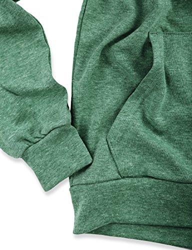 Green Fit Hombres Larga De Bolsillo Dcf010 Slim jade Sudadera Kanga Con Manga Ligera Ohoo HqfZw