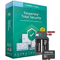 SOFTWARE ANTIVIRUS KASPERSKY 2019 TOTAL SECURITY 5 LICENCIAS (NO CD) CON REGALO MICRO SD 32 GB