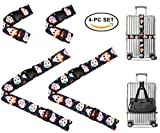 Sugar Skull Day of the Dead Travel Luggage Strap Suitcase Security Belt. Heavy Duty & Adjustable. Must Have Travel Accessories. TSA Compliant. 2 Luggage Straps & 2 Add A Bag Straps. 4 Piece Set.