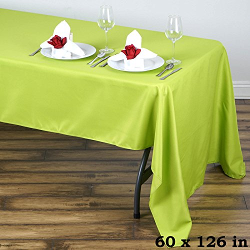 BalsaCircle 60x126-Inch Sage Green Rectangle Polyester Tablecloth Table Cover Linens for Wedding Party Events Kitchen Dining (Polyester Sage Tablecloth)