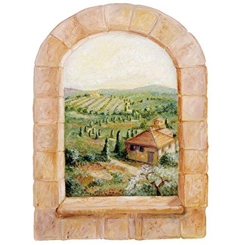Wallies Wall Decals, Tuscan Window Wall (Tuscan Window Mural)
