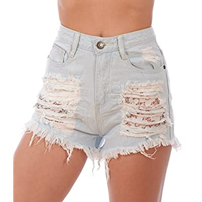 Machine Junior Girls Ripped Denim Jean Shorts for sale