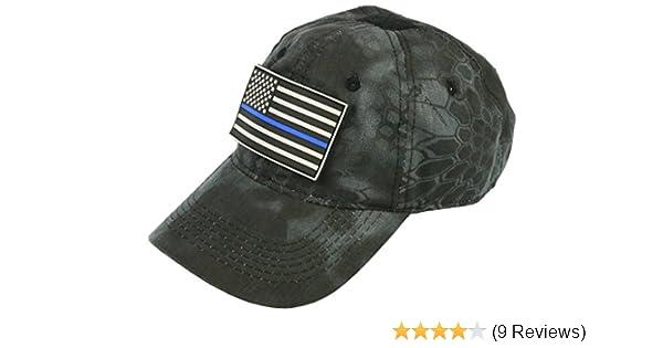 3602213a59868 Thin Blue Line Black Kryptek Camo Hat With Velcro Backed PVC Patch   0781307539454  Amazon.com  Books