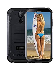 "DOOGEE S40 4G Moviles Libres Resistente IP68/IP69K Impermeable Smartphone 4650mAh, Android 9.0 3GB+32GB Telefono Movil Todoterreno 5.5"" Cámara 8MP+5MP Dual SIM, NFC Face ID"