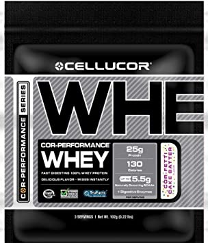 Amazon.com: Cellucor Cor-Performance Whey 3 porciones – cor ...