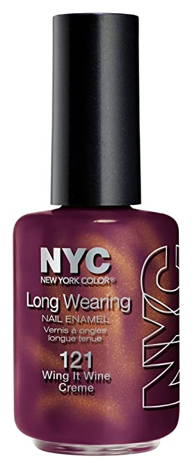 New York Color Long Wearing Nail Enamel Wing It Wine Creme 0 45 Fluid Ounce