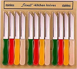 Fixwell Stainless Steel Knife Set, 12-Piece (B0002HP952) | Amazon price tracker / tracking, Amazon price history charts, Amazon price watches, Amazon price drop alerts