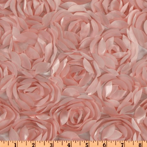 - Unique Quality Fabrics Loveable Satin Ribbon Rosette, Pink