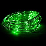 DUMVOIN(TM) 16.5ft/5M 50leds 3W Waterproof IP65 PVC Tube Fairy Starry Light With Auto Timer, Flashing Mode Feature,Environmental Seasonal LED Light String Lights (Color:green)