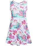 Liliane Unicorn Dress Summer Dresses for Girls Dress 4t 5t Dresses for Girls(A007,4-5Y)