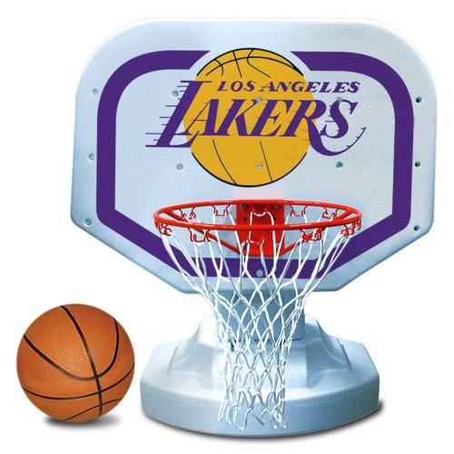 Poolmaster 72913 Los Angeles Lakers NBA USA Competition-Style Poolside Basketball Game