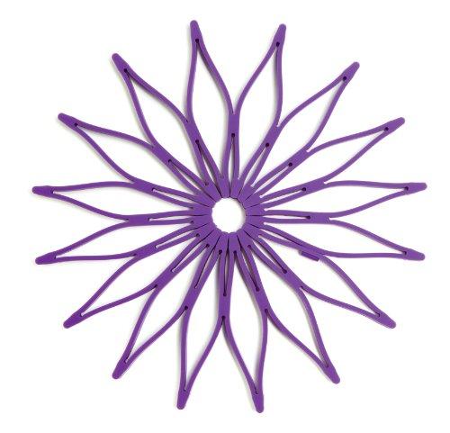 Spice Ratchet Blossom Multi-Use Purple Flower Trivet (Flower Trivet)