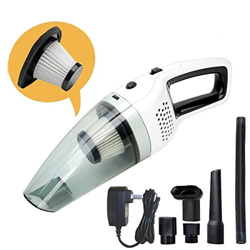bolweo handheld cordless vacuum cleaner dc 12v portable car vacuum cleaner for car and home. Black Bedroom Furniture Sets. Home Design Ideas