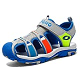 Boys' and Girls' Summer Outdoor Beach Kid Fisherman Sports Closed-Toe Athletic Sandals