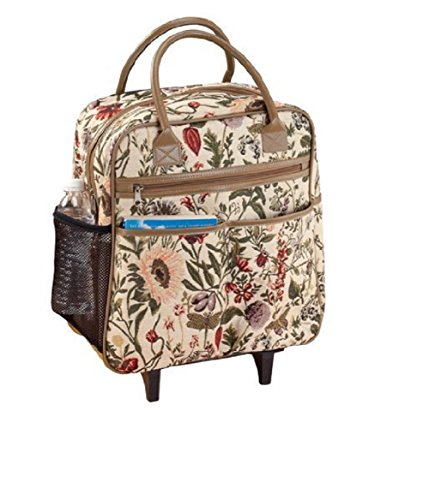 Price comparison product image Trenton Gifts Tapestry Rolling Travel Bag / Overnighter / Carry-On