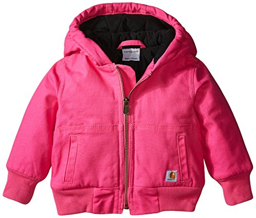 Carhartt Baby Girls' Wildwood Jacket, Raspberry Rose, 6 Months
