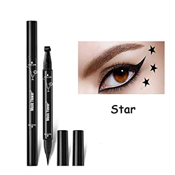 Eyeliner Beauty Essentials Expressive 1 Piece Fashion Star Eyeliner Pen Black Eye Liner Seal Pencil Liquid Cosmetic Beauty Long Lasting Waterproof Makeup Tool