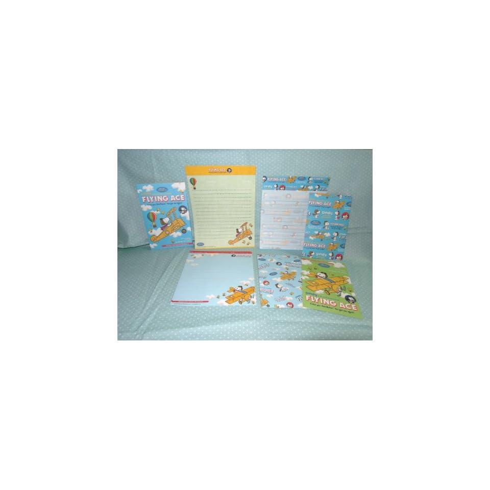 Peanuts Snoopy Flying Ace Pilot Mini Letter & Envelope Set