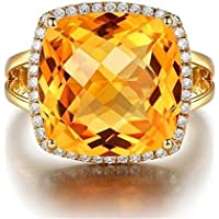 khamchanot Noble Citrine Gemstone Decoration 18k Yellow Gold Filled Rings Marriage Jewelry (9)