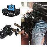 "LC Prime Strong Universal Waist Belt Tripod Mount Clip Adapter For SLR DSLR Camera GoPro Fast Loading Belt Clip Suit SLR DSLR Tripod 1/4"" Screw Bot"