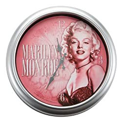 Vandor 70089 Marilyn Monroe Large Metal Wall Clock, Multicolored