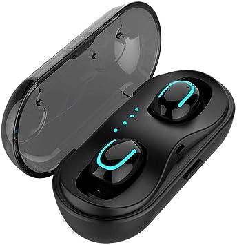 Febelle - Auricular inalámbrico con Caja de Carga Compatible con Android, iPhone y Samsung: Amazon.es: Electrónica