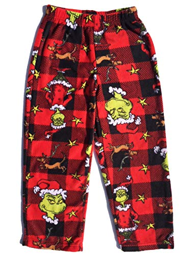 Boys Fleece Pajama Pants (grinch Boys Fleece Pajama Lounge Pant (12))