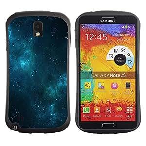 """Hypernova Slim Fit Dual Barniz Protector Caso Case Funda Para Samsung Note 3 [Galaxy Estrellas Blue Night Mist Cielo""""]"""
