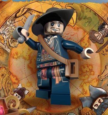 Hector Barbossa Lego Pirates of the Caribbean Minifigure -