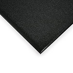 Wearwell Soft Step Anti-Fatigue And Safety Mat - Custom-Cut Size - 4'W - Black - 12