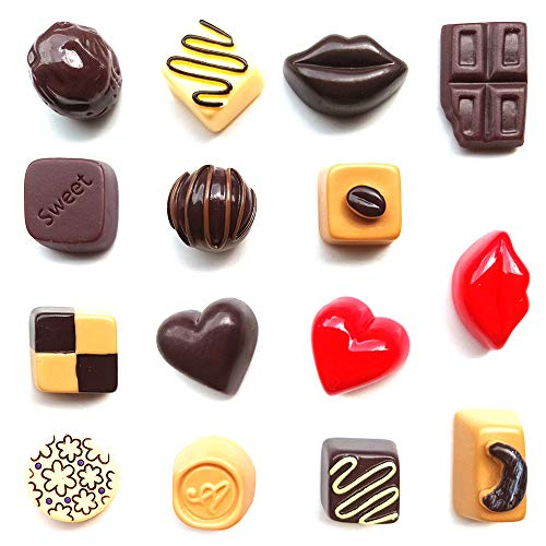 (Toosunny 15 Pack Fridge Magnets Chocolate Refrigerator Office Magnets for Calendars Whiteboards Maps Resin Fun Decorative Decoration)