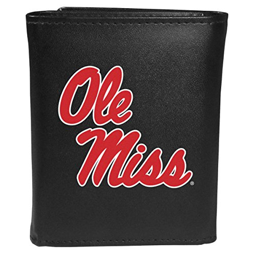 Siskiyou Sports NCAA Mississippi Ole Miss Rebels Tri-fold Wallet Large Logo, Black
