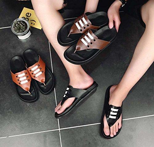Onfly Verano De los hombres Chancletas Antideslizante Suela ergonómica Zapatos de piscina Estilo Y Correa Punta abierta Sandalias Zapatos de interior o al aire libre Casual Calzado Zapatillas Black