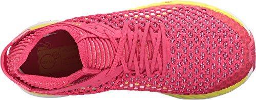 PUMA Women's Speed Ignite Netfit Sparkling Cosmo/Nrgy Yellow White Athletic Shoe