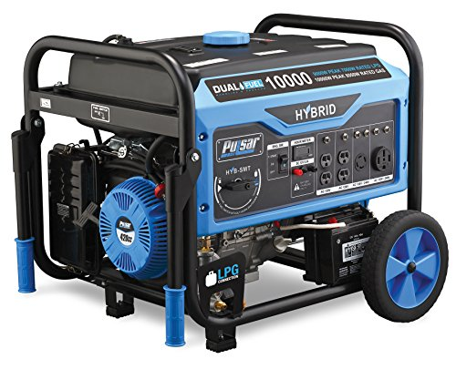 Pulsar Products PG10000B16 Dual Fuel Portable Generator, 10,000w