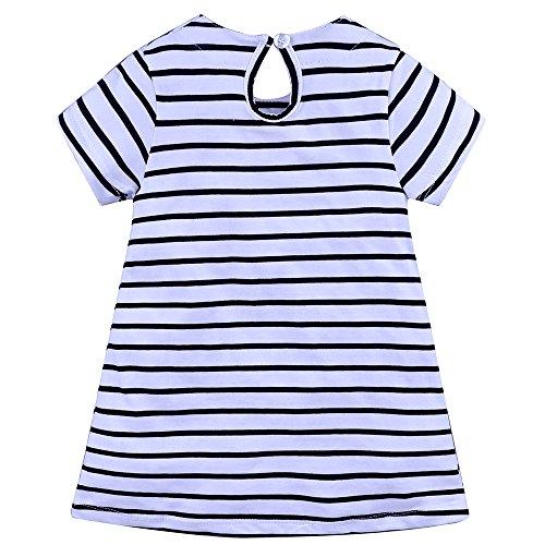 Kids Girls' Dress Summer Short Sleeves Cotton Casual Dress